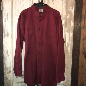 Lucchese 1883 Button up Collared shirt in Red, XL